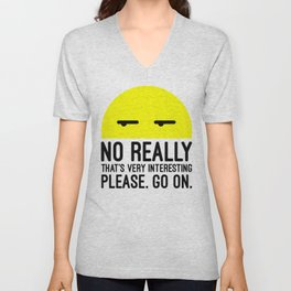 That's Very Interesting Funny Quote Unisex V-Neck