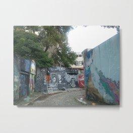 beco do graffiti na vila madalena Metal Print