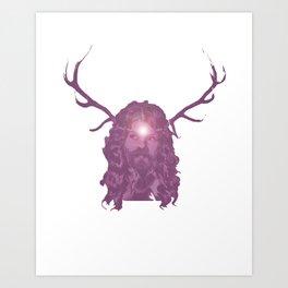 Crystal Antlers Art Print