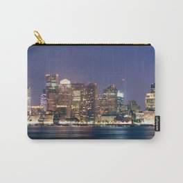 Boston Skyline at Night Carry-All Pouch