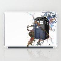 tardis iPad Cases featuring tardis by erkamaj