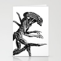 xenomorph Stationery Cards featuring Xenomorph by Carla Beltra
