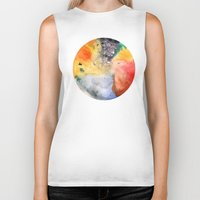 planet Biker Tanks featuring Planet by ceciliahansson