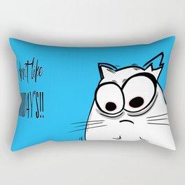 Noodles the Cat doesn't like Mondays Rectangular Pillow