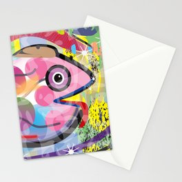 Fish Panting for a Drink with Hemingway in Havana Stationery Cards