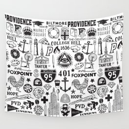 Providence Rhode Island Print Wall Tapestry