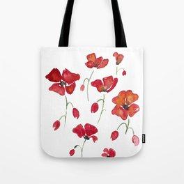 Swedish Poppies Tote Bag
