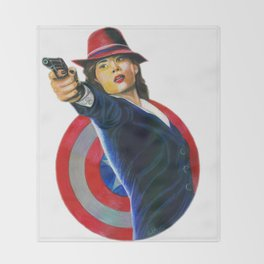 Peggy Carter Throw Blanket