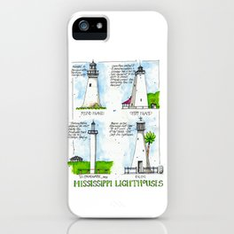 Mississippi Lighthouses iPhone Case