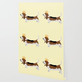 Crowned Basset Hound Dog Wallpaper