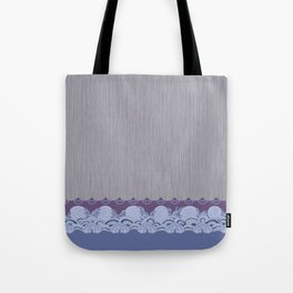 Layered Scallops and Waves Tote Bag