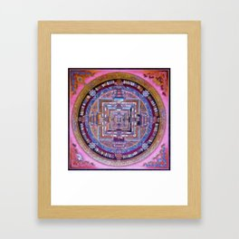 Kalachakra Sera - Mandala Framed Art Print