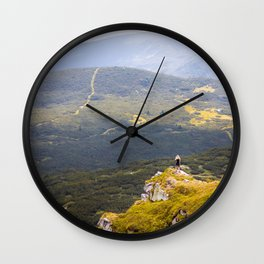 Above the abyss Wall Clock