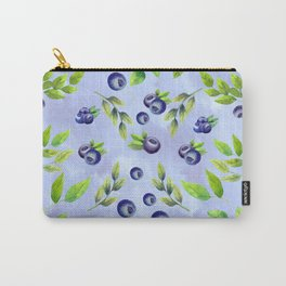 Wild Blueberries And Cream Carry-All Pouch
