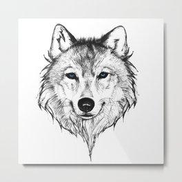 Ghost Wolf Metal Print