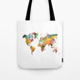 world map 4 Tote Bag