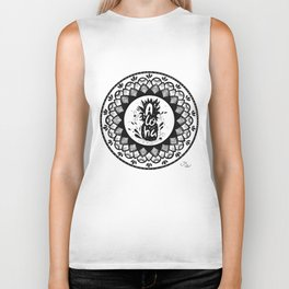 Aloha - Be a pineapple! Stand tall, wear a crown and be sweet on the inside! Biker Tank