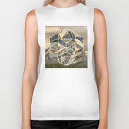 Geometric mountains 1 Biker Tank