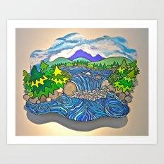Wild River Kingdom Art Print