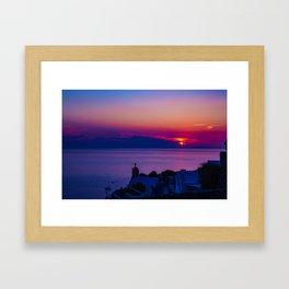 Oia  sunset Framed Art Print