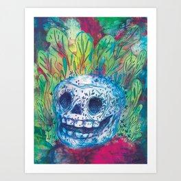 Mayan Skull Art Print
