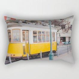 Yellow Tram in Lisbon Rectangular Pillow