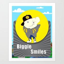 Biggie Smiles Art Print