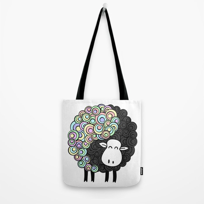 Yin Yang Sheep Tote Bag