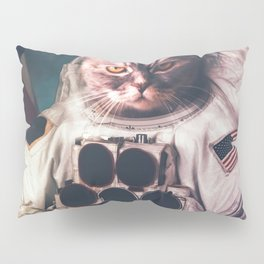 Beautiful cat astronaut Pillow Sham