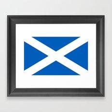 Flag of Scotland - High quality image Framed Art Print