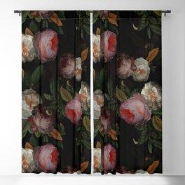 Jan Davidsz. de Heem Vintage Botanical Midnight Rose Garden Blackout Curtain