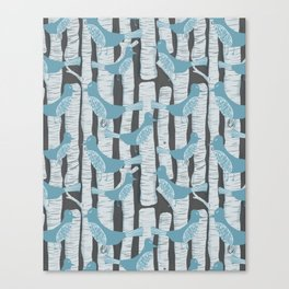 For the Birds and Birch Trees Canvas Print
