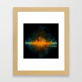 San Antonio City Skyline Hq v4 Framed Art Print