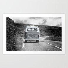 Take the Road Art Print