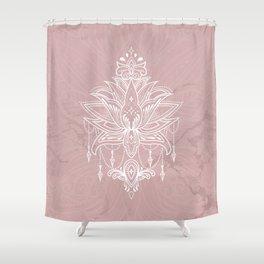 Blush pink mandala Shower Curtain