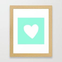 Mint Heart Framed Art Print