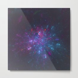 Lazy Galactic Fireworks Metal Print