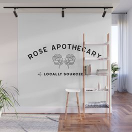 Rose apothecary locally sourced roses minimalist funny design gift Wall Mural