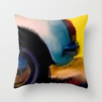 grand theft auto Throw Pillows featuring Auto by pandaliondeath
