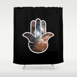 Hamsa Milky Way Shower Curtain