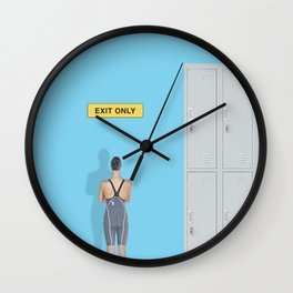 exit only Wall Clock