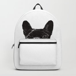 Peeking French Bulldog Backpack