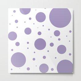 Lavender Bubbles Print Metal Print