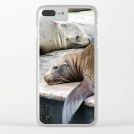 Sea Lions Clear iPhone Case