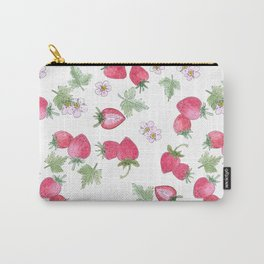 Watercolor . Strawberry on a White background . Carry-All Pouch