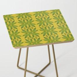 Marijuana Leaf Pattern Side Table