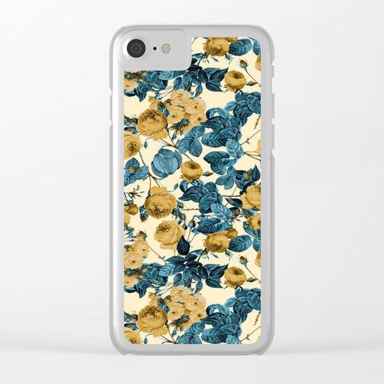 80's summer garden Clear iPhone Case