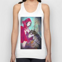 red hood Tank Tops featuring red hood by AliluLera