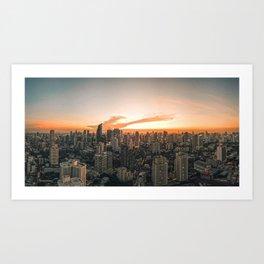 Bangkok Sunset Art Print