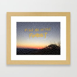 Love In High Places Framed Art Print